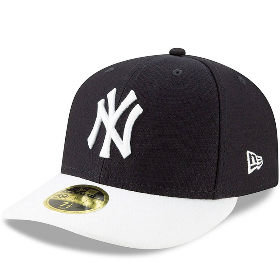 76d5c723236 Men s New York Yankees New Era Navy White 2019 Batting Practice Home Low  Profile 59FIFTY Fitted Hat