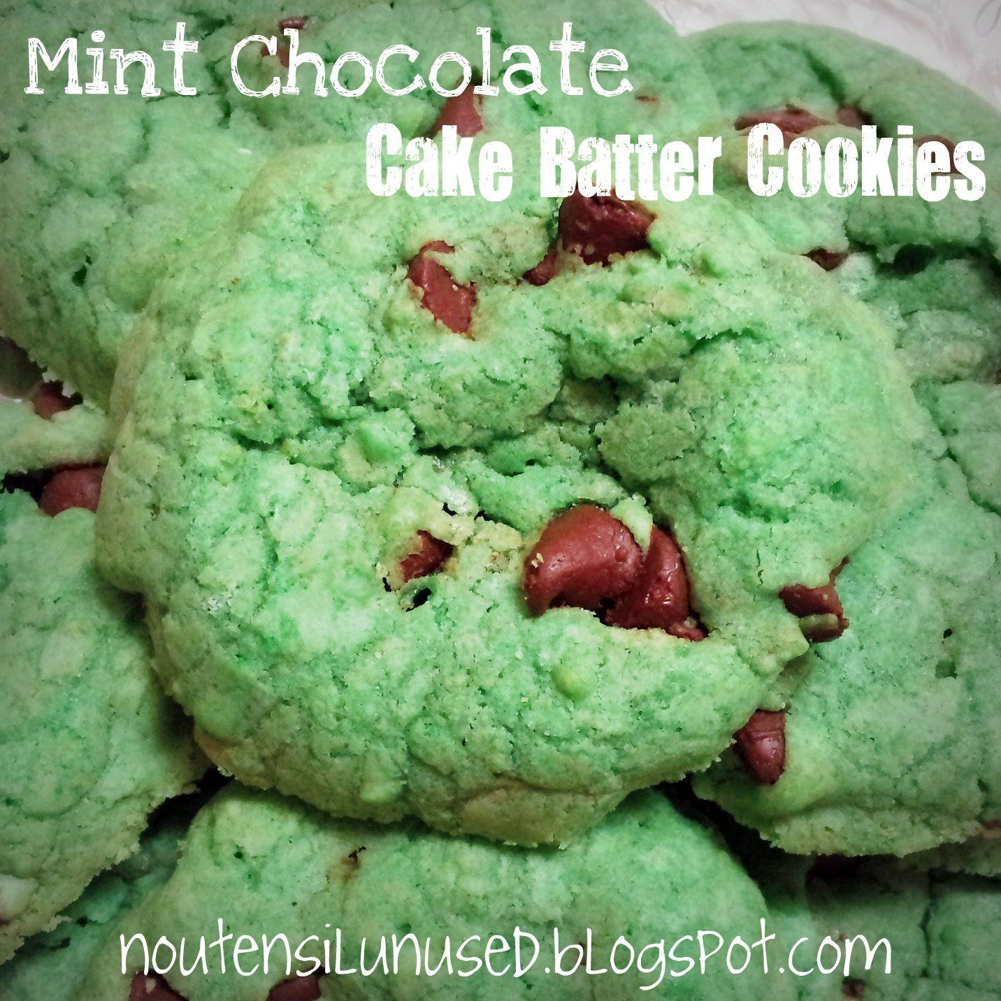 Mint Chocolate Cake Batter Cookies Recipe | No Utensil Unused