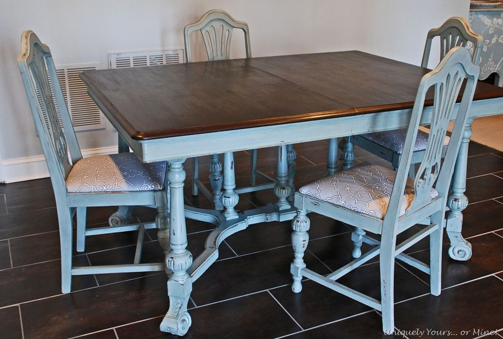 Elegant Tutorial: Grey Painted Dining Table And Chairs...I Like The Idea And