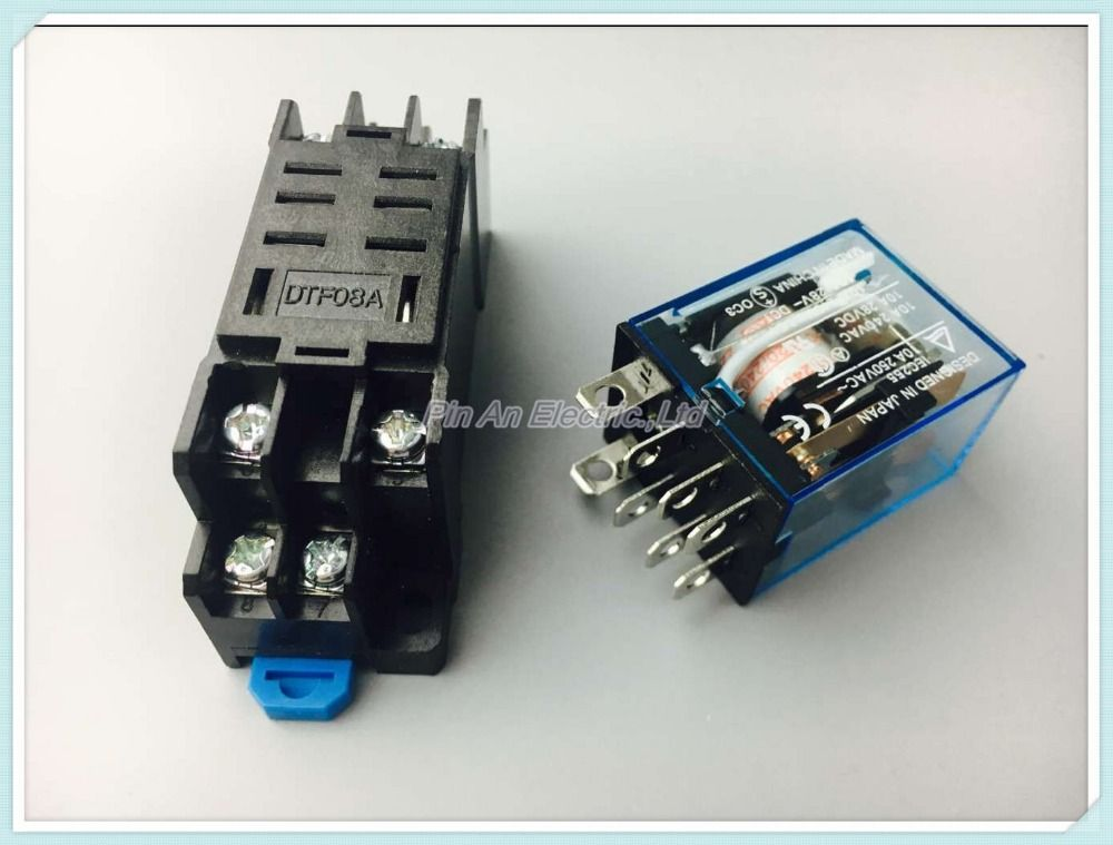 1 set Power Relay LY2NJ 220V AC Coil Miniature Relay DPDT 8 Pins 10A