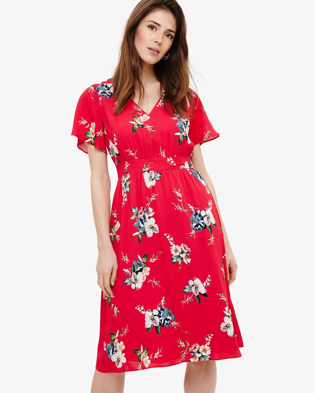 664e9e82822f Phase Eight Alexandra Floral Print Dress Pink