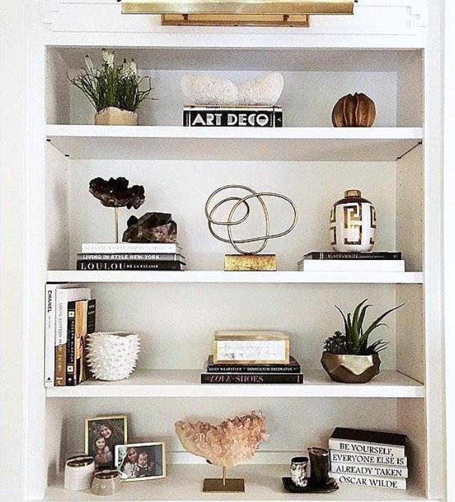 Pin by Flávia on Interior Details | Shelf decor living ...