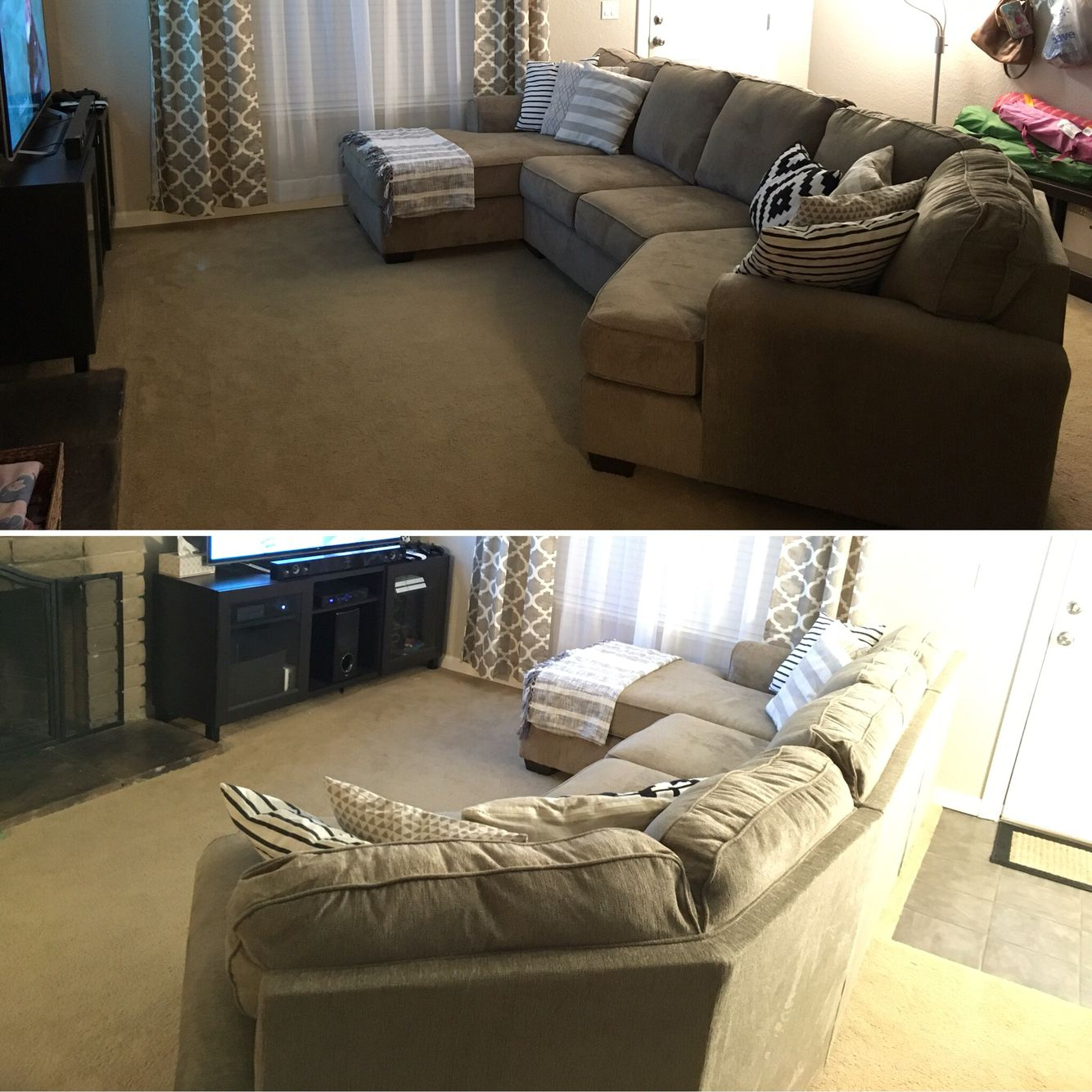 Our New Living Room Set Up Patola Park Sectional By Ashley