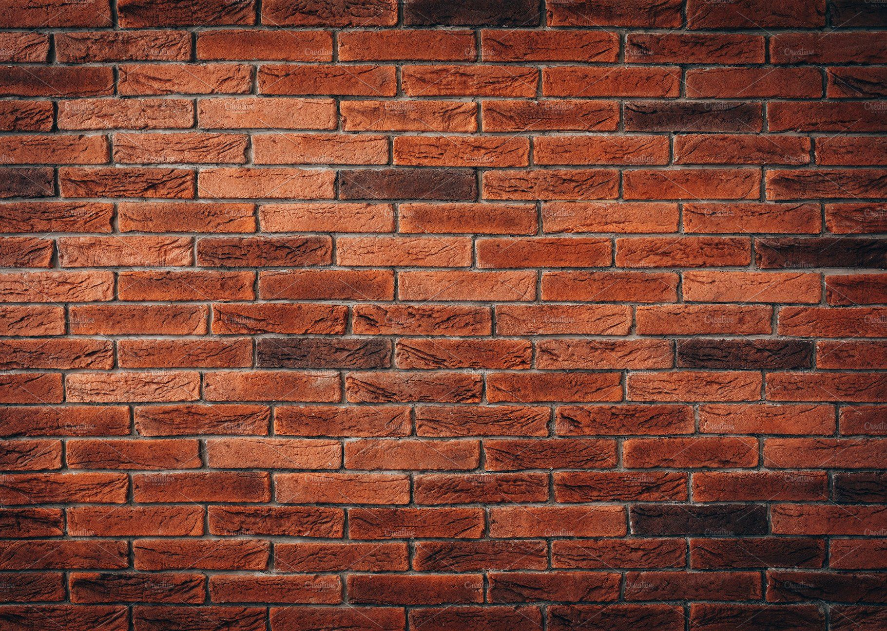 Red brick wall texture by primopiano on @creativemarket