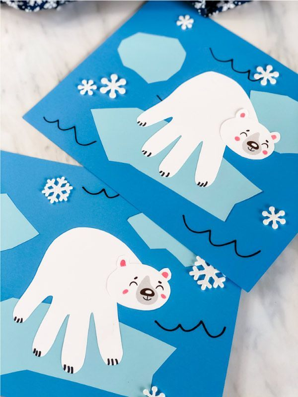 Photo of Searching for a fun kids activity to do this winter? This handprint polar bear is it. It's great for
