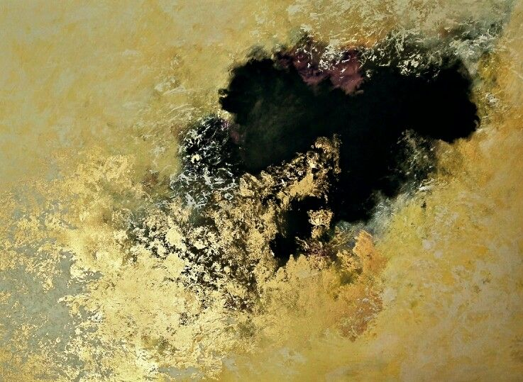 Dwarf's Dream..36x48 Original acrylic and gold leaf abstract by Perry Skaggs.