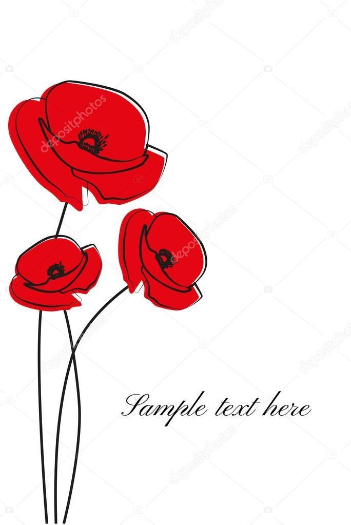 6c64016035 Piros pipacs virág elszigetelt fehér background. Vektor piros romantikus  mák virág és fű. piros Pipacsok. piros virág