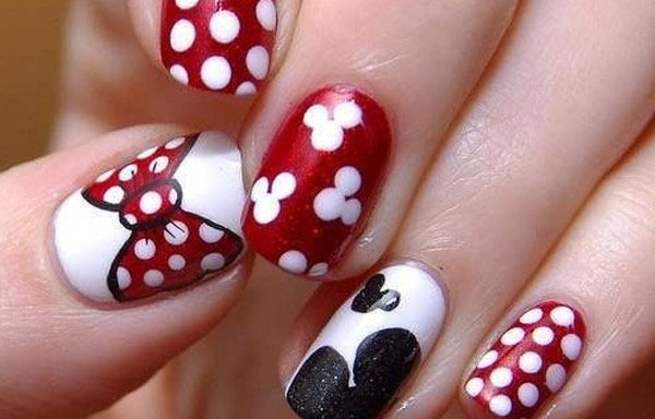Uñas Decoradas Con Dibujos Uñas Pinterest Disney Nails Nails