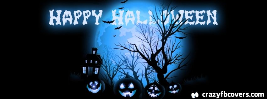 Spooky Blue Moon Happy Halloween Facebook Cover Facebook