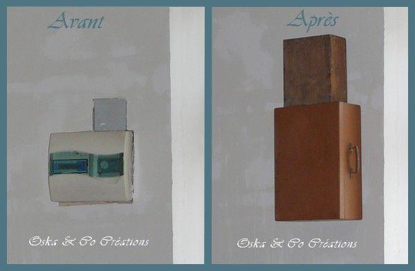 habillage d 39 un compteur lectrique avec une valise r tro sur les murs deco paint pinterest. Black Bedroom Furniture Sets. Home Design Ideas