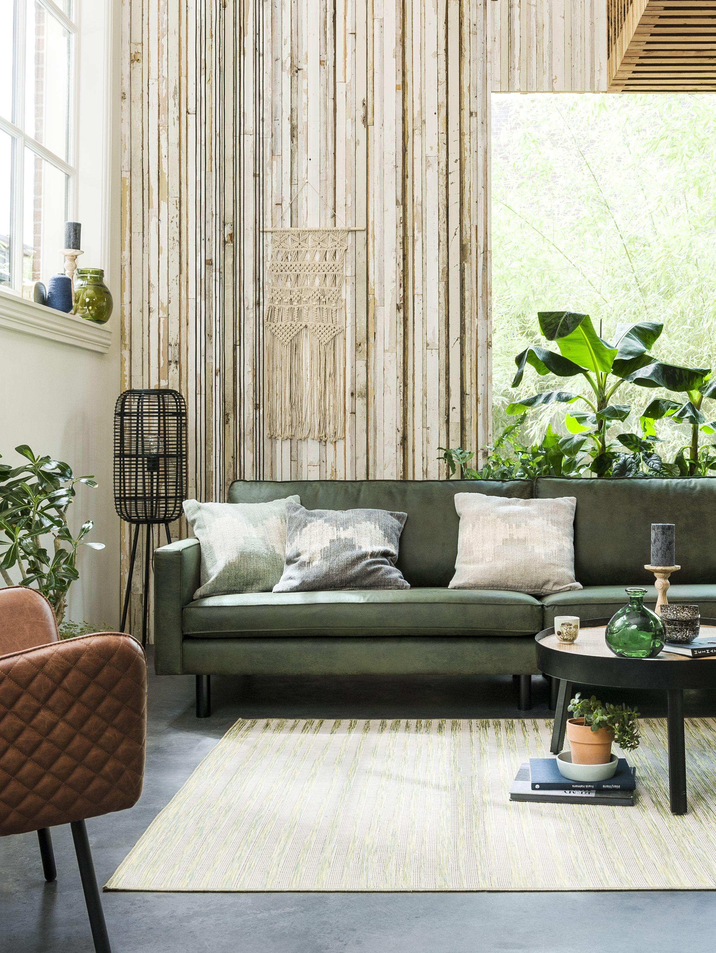 Groene bank  Living  Styling  Pinterest  Green