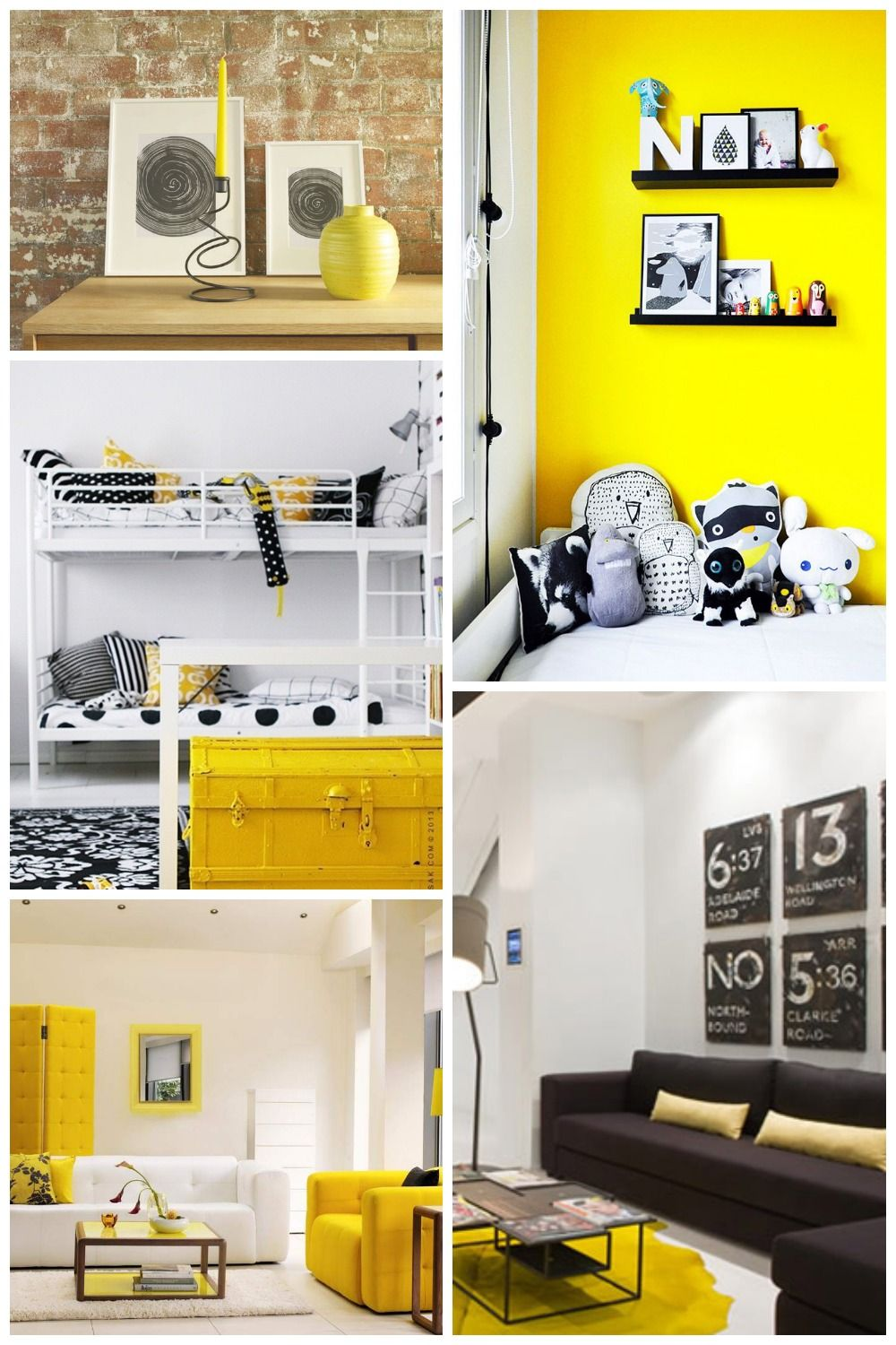 Yellow Black White Decor - Monochrome and Yellow Decor | Room Styles ...