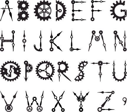 Steampunk Font How To Draw Maker Fun Factory Vbs Steampunk