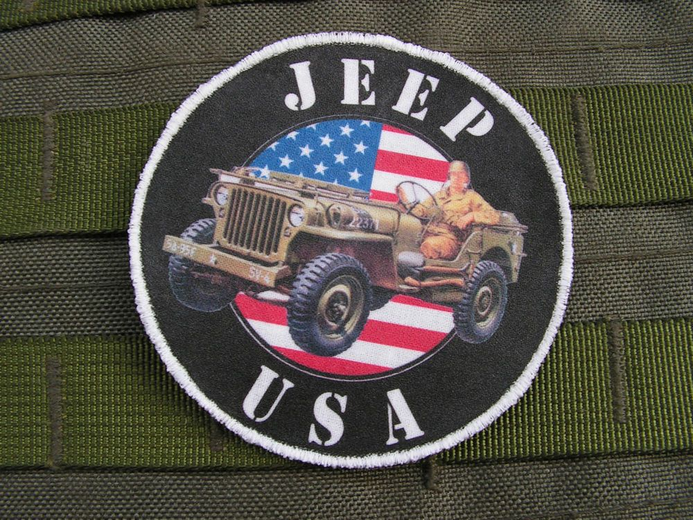 Patch Velcro - JEEP USA - ww2 hotchkiss willys ford early US