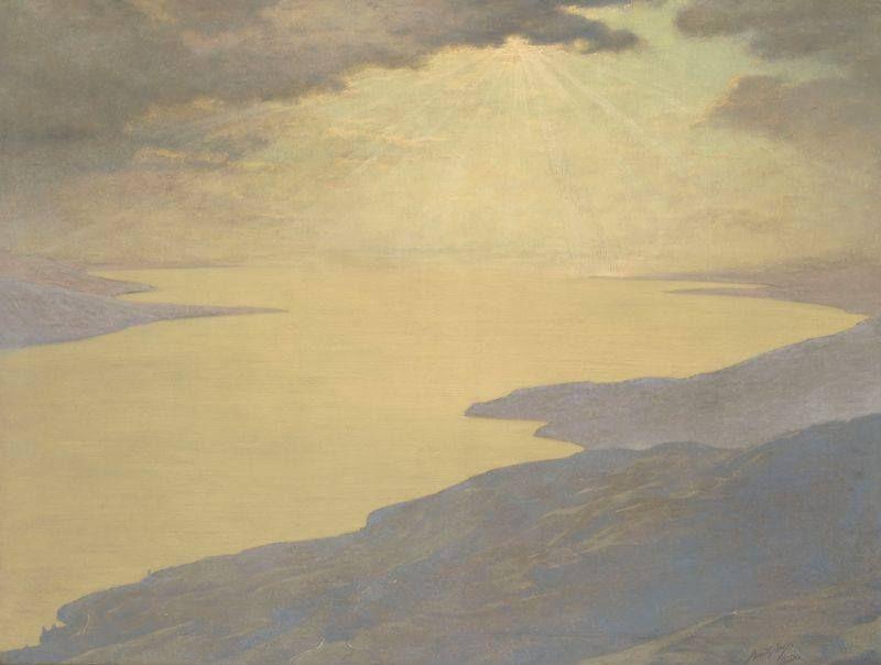 Auguste Baud-Bovy Artist Painting Sérénité (vers 1896) 39,5 x 30,3 cm Musée d'Orsay Paris Don de l'artiste, 1898. © RMN-Grand Palais (Musée d'Orsay) / Hervé Lewandowski