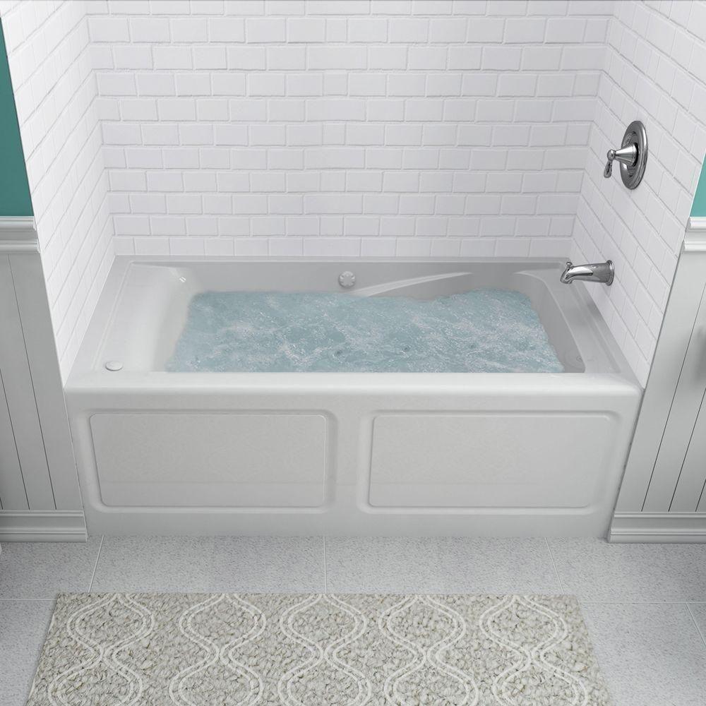 American Standard 2771vc Evolution 60 Acrylic Whirlpool Bathtub With Reversible White Tub Whirlpool Drop In Whirlpool Bathtub Whirlpool Tub Tub