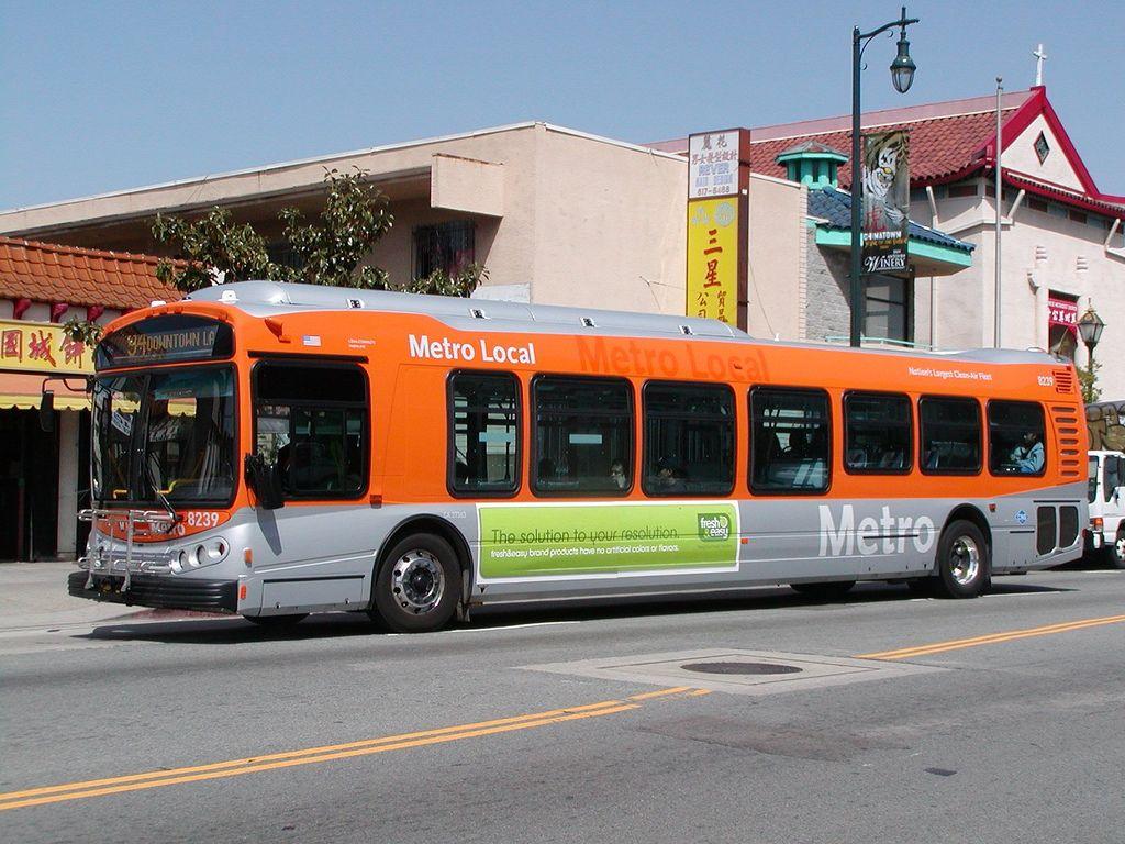 Lacmta Metro Local 45 Ft Nabi Compobus Bus Number 8239