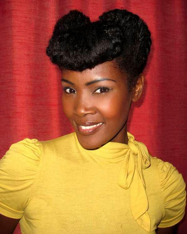 60s Style Pinup Natural Hair Styles For Black Women Retro