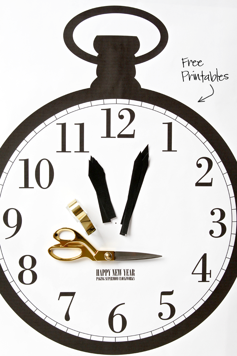 New Year\'s Eve Ideas for Kids | Pinterest | Clock games, Free ...