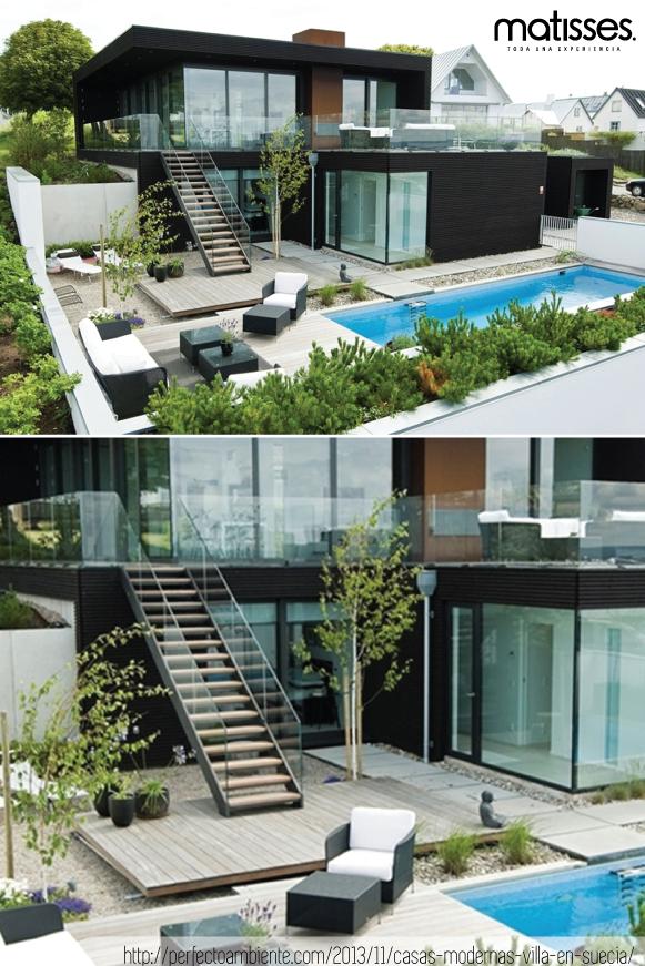 Esta casa moderna de dos niveles impacta por su forma for Casa home goods