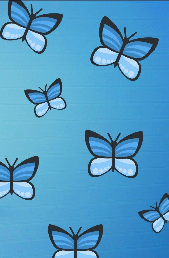 Blue butterflies | Butterfly wallpaper, Iphone background ...