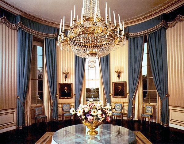 The Blue Room In 1963 White House Historical Association