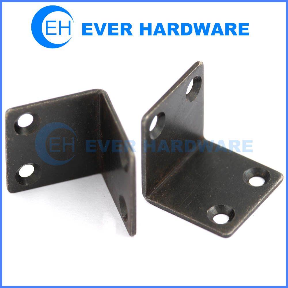 Galvanized angle brackets black 90 degree angle 4 holes brace ...
