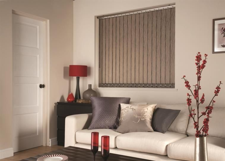 living room window blinds. Adding vertical blinds to that large window in your living room will  provide insulation and light