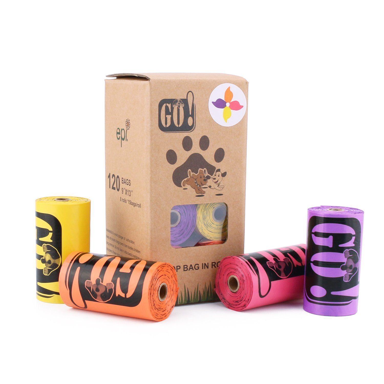 Amazon ペット 犬 うんち袋 うんち処理袋 8ロール 四つ色 いい匂い 120枚入り いい匂い Go Xiamen Bags ペット用品 通販 ペット用品 ペット 犬 袋