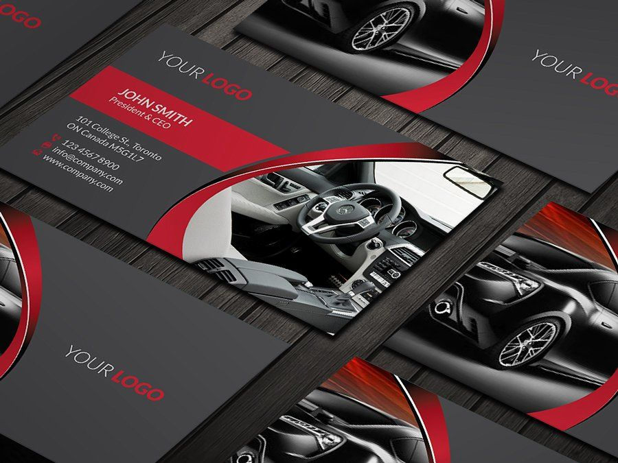 Rent A Car Business Card by RQ Designs on @creativemarket | cars ...
