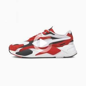 Women's PUMA Rs-X³ Super Trainers, White/High Risk Red, size 7, Shoes