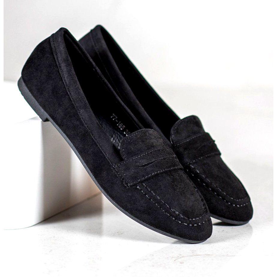 Moccasins Women S Cmparis Cm Paris Suede Loafers Black Loafers Suede Loafers Moccasins Women