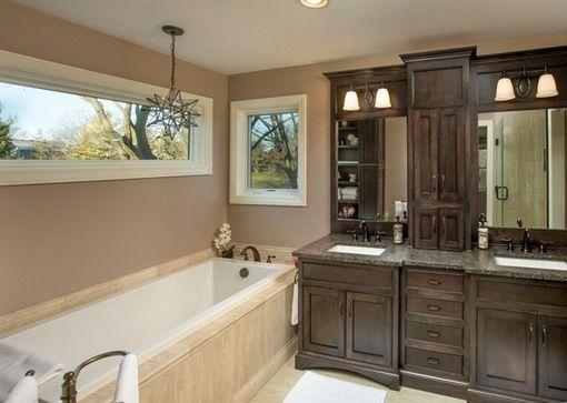 Dark Elegant Wooden Bathroom Cabinets