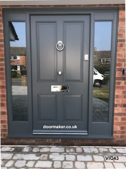 Victorian front doors, Georgian, Regency, Edwardian Doors, London Doors made from Oak and other woods painted or stained #victorianfrontdoors
