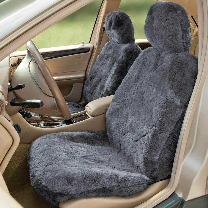 Sheepskin Seat Covers From Brookstone Got These For