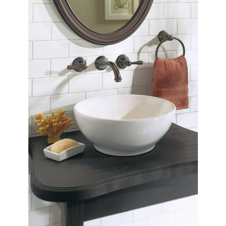 Shop Moen Kingsley OilRubbed Bronze Handle Widespread WaterSense