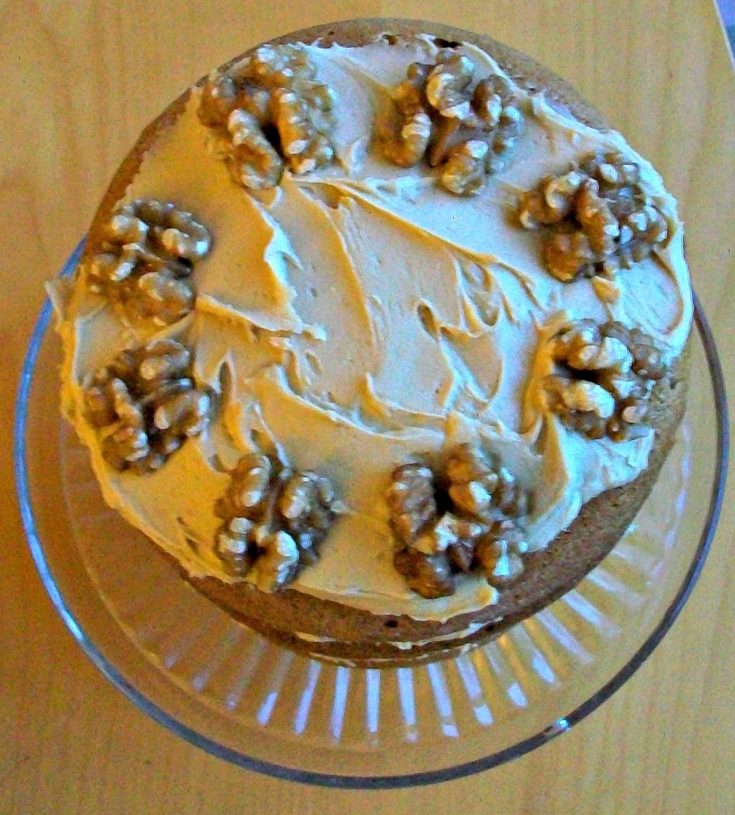 Blue Kitchen Bakes: Coffee And Walnut Layer Cake