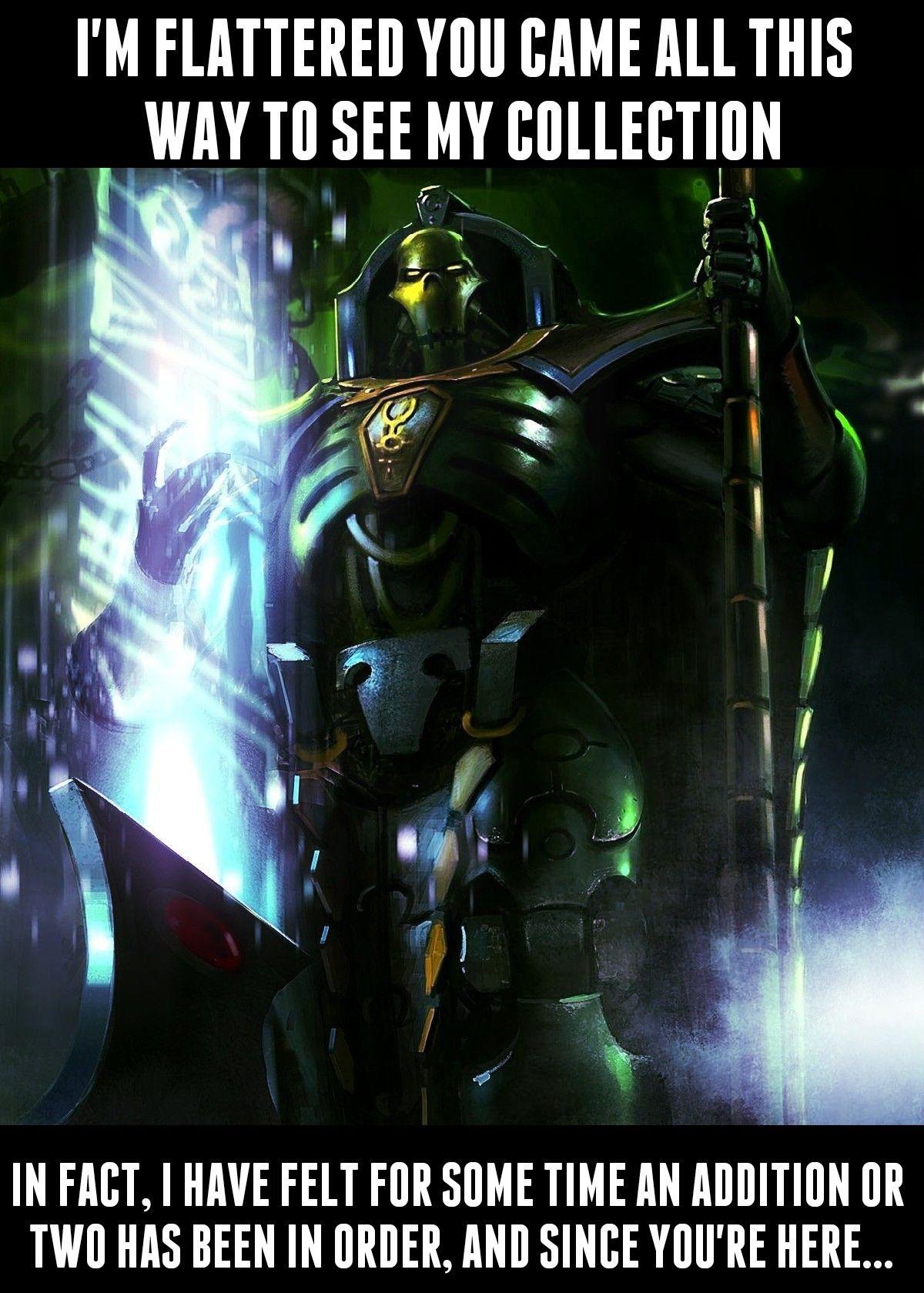 I freaking love Trazyn   Warhammer 40k memes, Warhammer ...