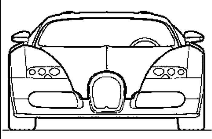 luxury bugatti veyron coloring page