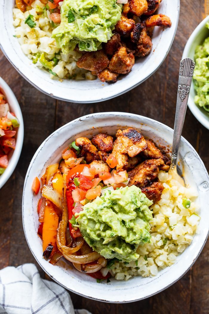 Photo of Paleo Chicken Burrito Bowls {Whole30, Keto} The Paleo Running Momma
