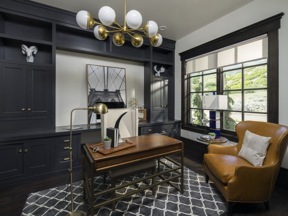 Salt Lake City Transitional Office Home With Windows Contemporary