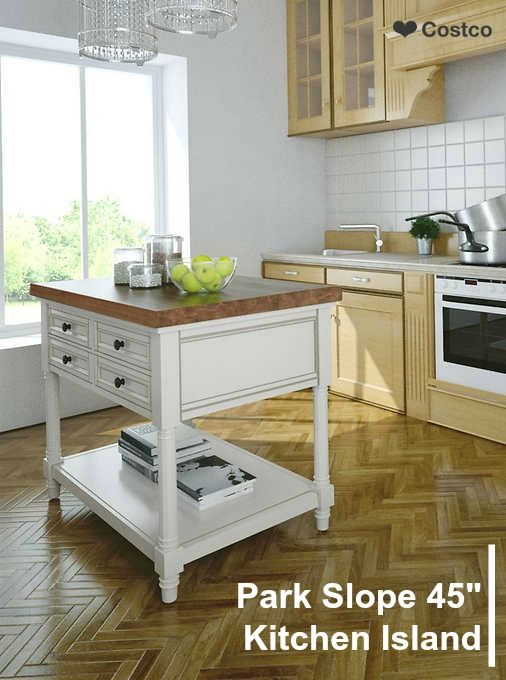 The Park Slope Kitchen Island Features A Clean Functional Design For Your Space Kitchen Island With Butcher Block Top Wood Kitchen Island Small Kitchen Island