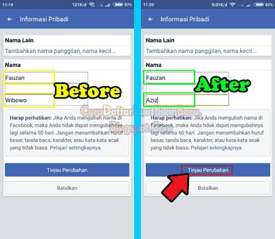 Gini Cara Mengganti Nama Profil Facebook Di Hp Kita Dengan