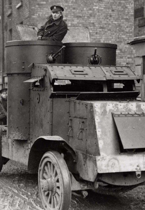 An Irish Free State Soldier In An Armoured Car During The 1920s Irish Civil War Ww1 Tanks Armored Vehicles Tanks Military
