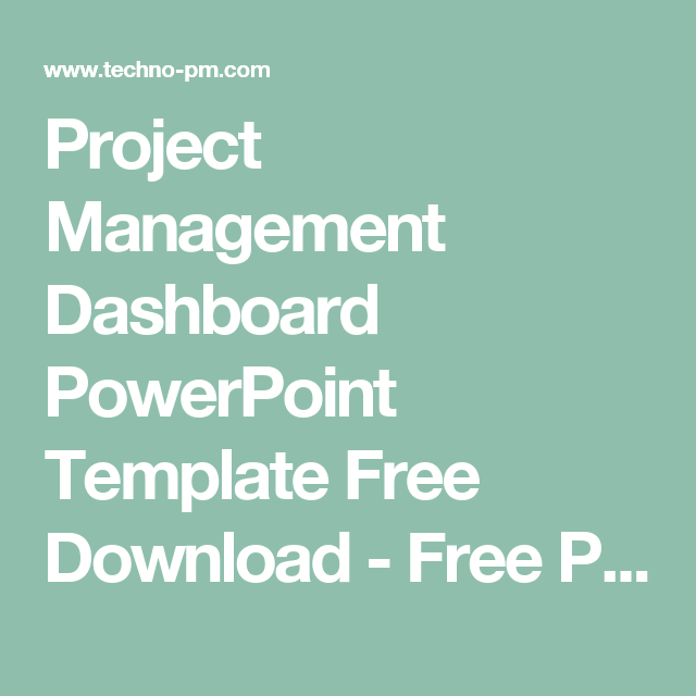 project management dashboard powerpoint template free download, Modern powerpoint