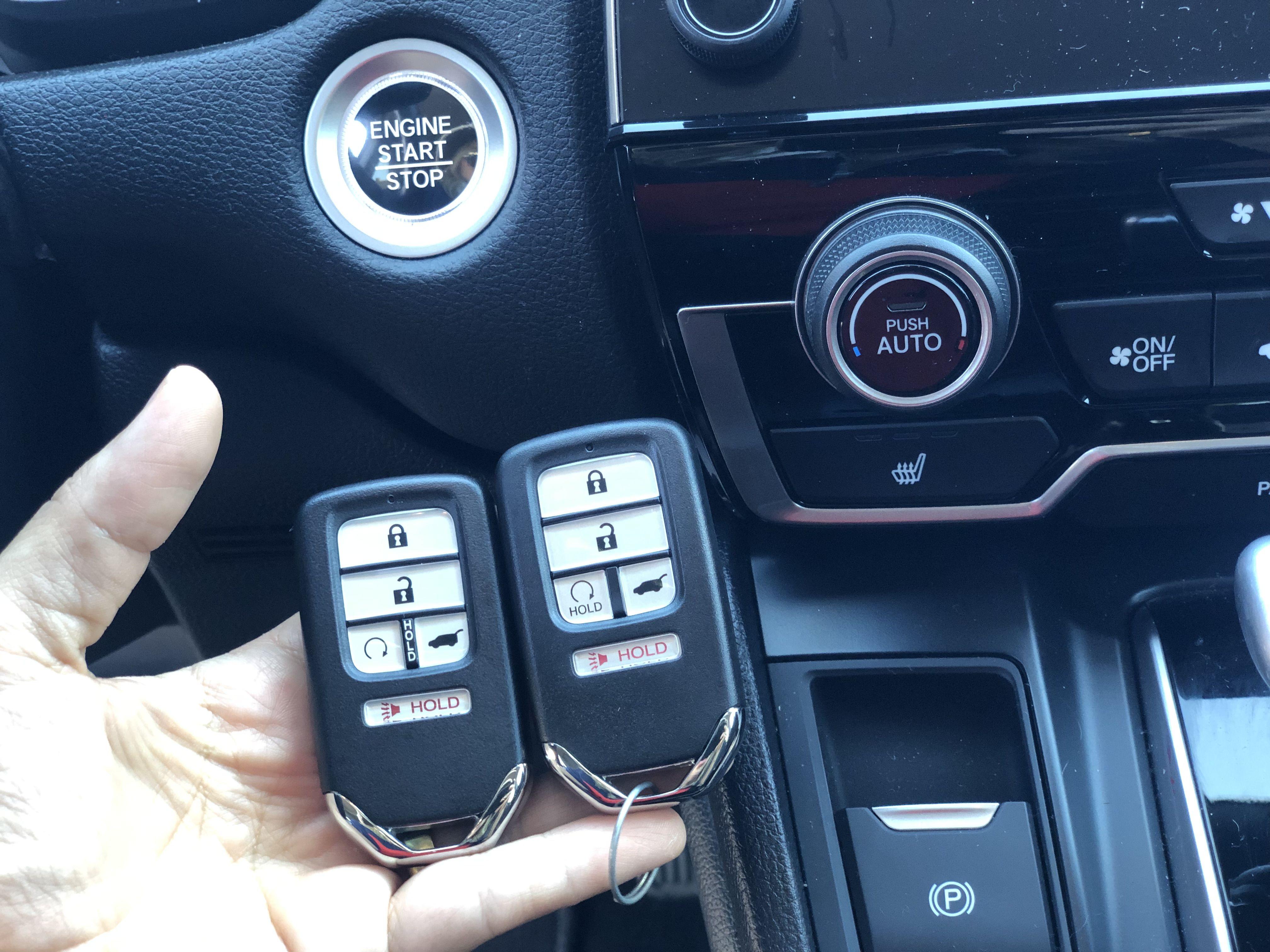 2019 honda crv 5button smart key duplication car