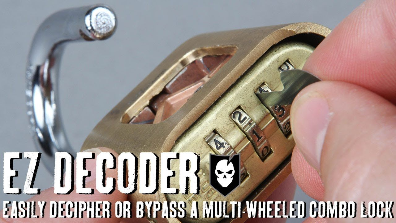 Ez Decoder Easily Decipher Or Bypass A Multi Wheeled Combination Lock Combination Locks Lock Picking Tools Lock Pick Set