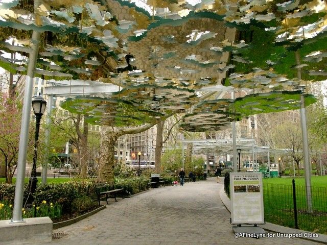 Mirrored discs canopy in Madison Square Park? Check out this new artistic exhibit by Teresita & Mirrored discs canopy in Madison Square Park? Check out this new ...