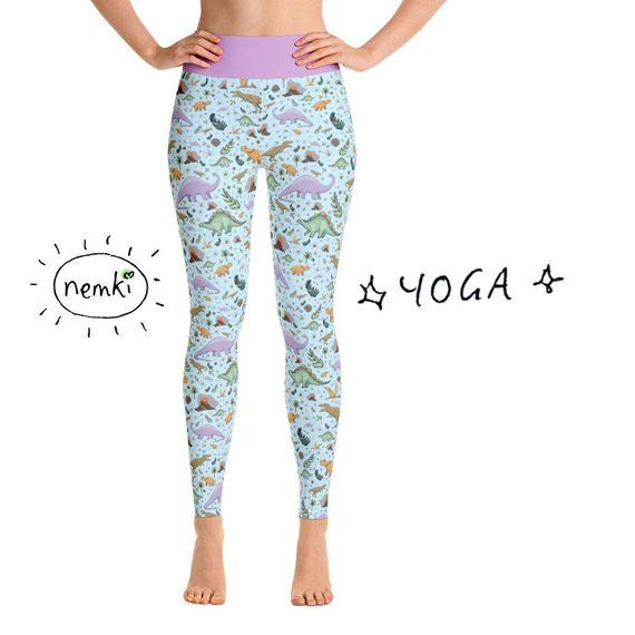 59b739d4b0ff8 Dinosaur Leggings for Women Dinosaur Leggings Ladies Dinosaur Yoga ...