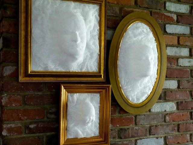 Diy Ghost Face Picture Frame Architectural And Interesting